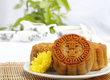 Mooncake and tea. Mooncake and tea,Chinese mid autumn festival food Stock Images