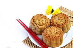 Mooncake and tea. Stock Photography