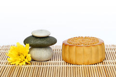 Mooncake and tea. Royalty Free Stock Images