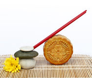 Mooncake and tea. Stock Photos