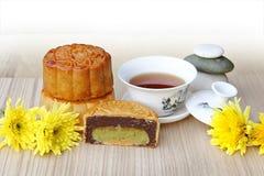 Mooncake and tea. Stock Photography