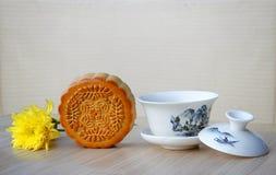Mooncake and tea. Royalty Free Stock Photo