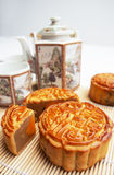 Mooncake tradicional Fotos de Stock Royalty Free
