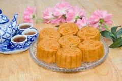 Mooncake of voedsel voor Chinees de medio-herfstfestival Royalty-vrije Stock Afbeelding