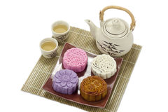 Mooncake with white background Royalty Free Stock Image