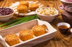 mooncakes παραδοσιακός Στοκ Εικόνα