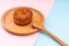 Mooncakes com um rosa e imagem de stock royalty free