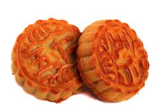 Mooncakes do alimento do festival do Meados de-outono foto de stock royalty free