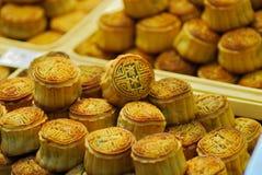 Mooncakes feito sob medida mordida foto de stock royalty free
