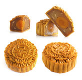 Mooncakes and ingredient Royalty Free Stock Images