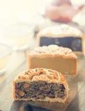 Mooncakes no filtro do vintage Fotografia de Stock Royalty Free