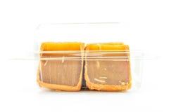 Mooncakes in plastic dekking  Royalty-vrije Stock Foto's