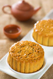 Mooncakes with teaset Stock Image