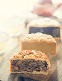 Mooncakes in vintage filter Royalty Free Stock Photography