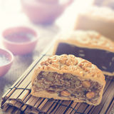 Mooncakes in vintage style Royalty Free Stock Images