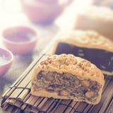 Mooncakes w rocznika stylu Obrazy Royalty Free