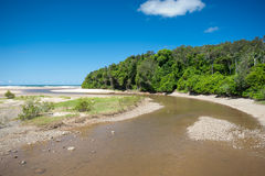 Moonee Beach estuary  in Australia Stock Image