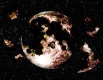 Moonen exploderar Vektor Illustrationer