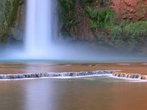 Mooney Falls. In the Havasu Canyon, only accessible by hiking or backpacking Stock Image