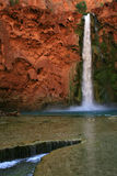 Mooney Falls. A view of the beautiful Mooney Falls in Havasu Canyon, Arizona (USA Royalty Free Stock Photography