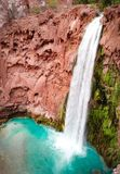 Mooney Falls Havasupai royalty free stock image