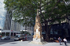 Mooney Memorial Fountain in Brisbane CBD Stock Images