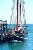 Moonfleet tallship along Swanage pier. Royalty Free Stock Photo