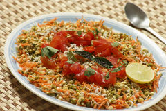 Moong Dal gajjar chaat from India Royalty Free Stock Images