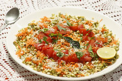 Moong Dal gajjar chaat from India Royalty Free Stock Photos