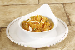 Moong Dal Halwa Indian Dessert foto de stock royalty free