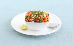 Moong poussé par nourriture végétarienne saine dans une cuvette Image libre de droits