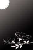 Moonglow avec des fleurs Photo libre de droits