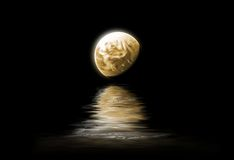Moonlight. The moon is reflected in the water - night landscape Royalty Free Stock Image