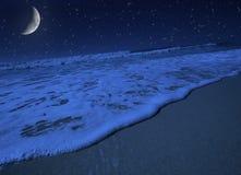 Moonlight. Moon light harmony on tropical beach stock images