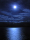 Moonlight. By the sea royalty free stock photo