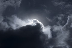 Moonlight. A full moonlight cloudy sky royalty free stock images