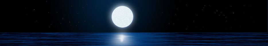Moonlight. On sea with firmament Stock Image