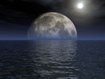 Moonlight. The moonlight over the ocean Royalty Free Stock Photography