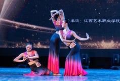 Moonlight Bambusa Multiplex 2 -Dai Folk Dance-Graduation Show of Dance Department. Dec. 22, 2018 Graduation Performance of Dance Department of Jiangxi Vocational royalty free stock images