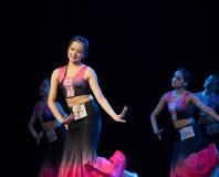 Moonlight Bambusa Multiplex 3 -Dai Folk Dance-Graduation Show of Dance Department. Dec. 22, 2018 Graduation Performance of Dance Department of Jiangxi Vocational stock images