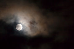 Night Sky With Full Moon Royalty Free Stock Image