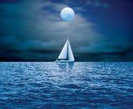 Moonlight boat Royalty Free Stock Photography