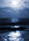 Moonlight bokeh background. Blue Moonlight defocused bokeh background Stock Photos
