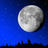 Moonlight city Royalty Free Stock Images