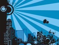Moonlight City Background Royalty Free Stock Image