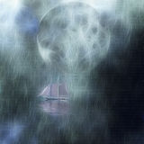 Moonlight Cruise Royalty Free Stock Image