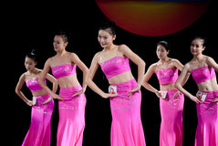 Moonlight dance of Dai nationality--Chinese folk dance Stock Images