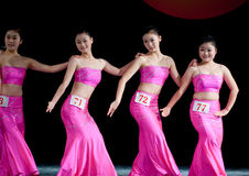 Moonlight dance of Dai nationality--Chinese folk dance Stock Photo