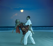 Moonlight dancing royalty free stock photo
