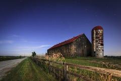 Moonlight farm Stock Image